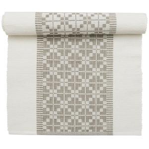 vit och beige mönstrad bordslöpare från Svanefors