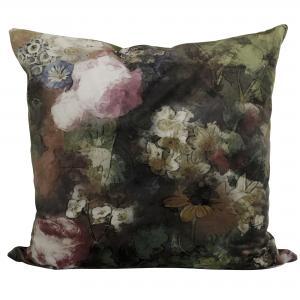 Kuddfodral Slomithy, sammet i ljuvliga toner av grönt och rosa