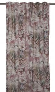 Gardinlängd Rindael med bladverk, rosa