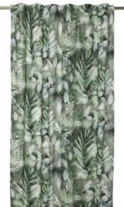 Gardinlängd Rindael med bladverk, grön