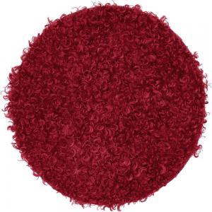 Stolsdyna DORA, fårskinsimitation, röd