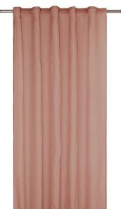 Gardinlängd RIMY, enfärgad, extra lång och bred, rosa