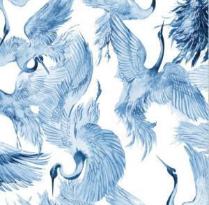 Servett CARRO, 2-pack, tranor, blå