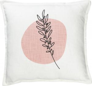 Kuddfodral ALEX, broderad kvist, rosa