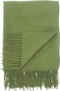 Pläd LISEN, enfärgad akryl, grön