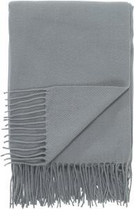 Pläd LISEN, enfärgad akryl, grå
