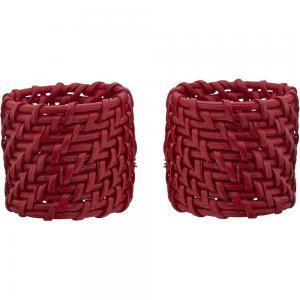 Servettring ZOE, 4-pack, röd