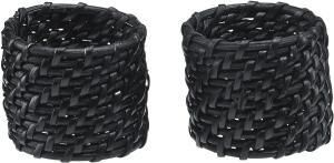 Servettring ZOE, 4-pack, svart