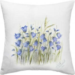 Kuddfodral BLUEBELL, vit/blå