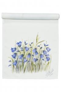 Löpare BLUEBELL, vit/blå