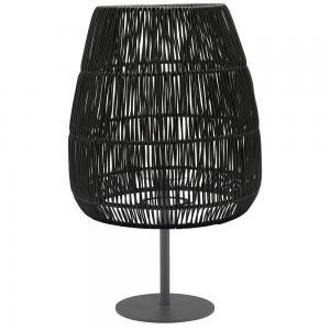 Bordslampa AGNAR inkl. SAIGON LAMPSKÄRM svart UTOMHUS, E27, höjd 71 cm