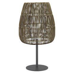 Bordslampa AGNAR inkl. SAIGON LAMPSKÄRM grå UTOMHUS, E27, höjd 71 cm