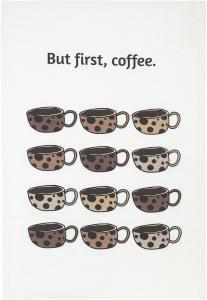 Coffee Kökshandduk Vit 50x70cm