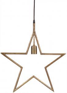 Julstjärna TINDRA Hanging star, råmässing