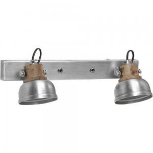 Vägglampa, RUTHLAND DUBBEL, silver