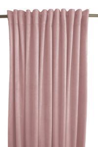Gardinlängd Sammet, enfärgad med extra tyngd för vackert fall, ljusrosa