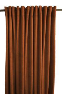 Gardinlängd Sammet, enfärgad med extra tyngd för vackert fall, koppar