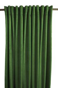 Gardinlängd Sammet, enfärgad med extra tyngd för vackert fall, mörkgrön