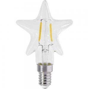 Lampa LED, E14, Klarglas Stjärna 2200K