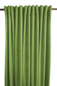 Gardinlängd Sammet, enfärgad med extra tyngd för vackert fall, grön