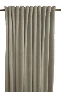 Gardinlängd Sammet, enfärgad med extra tyngd för vackert fall, ljusgrå