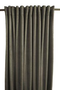 Gardinlängd Sammet, enfärgad med extra tyngd för vackert fall, mörkgrå