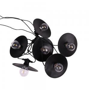 Ljusslinga DONNA, metallskärm inkl. lampa, svart sladd