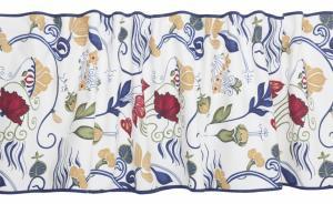 Gardinkappa JOSÈ, Josef Frank inspirerat mönster, blå