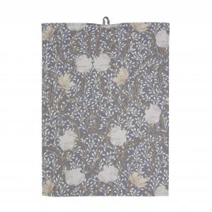 Kökshandduk MATILDA, 2-pack, slingrande blommor, blå/vit