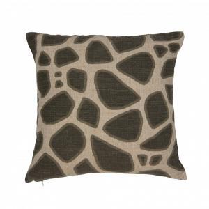 Kuddfodral AFFE LIN, giraff, svart