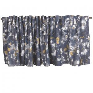 Gardinkappa ENZO, abstrakt mönster, blå