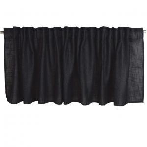 Gardinkappa ALAN, enfärgad, svart