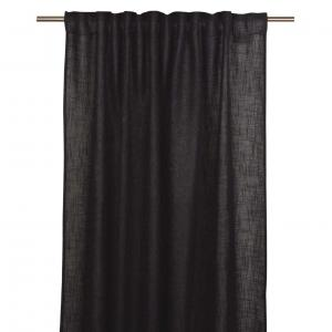 Gardinlängd ALAN, extralång enfärgad, svart