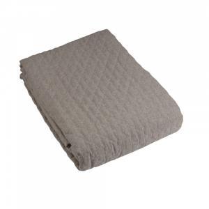 Överkast enkelsäng PAZ, quiltat, grå