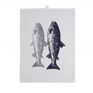 Handduk FISK, blå
