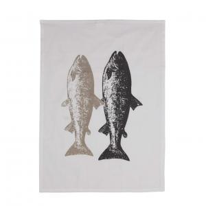 Handduk FISK, grå