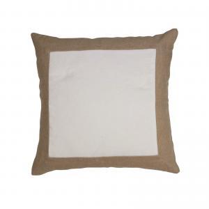 Kuddfodral ROCCO, lin/sammet, offwhite