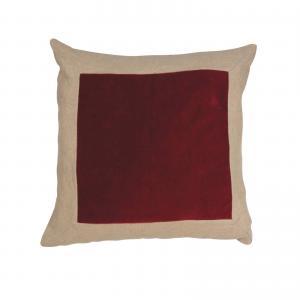 Kuddfodral ROCCO, lin/sammet, röd