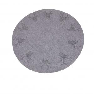 Julgransmatta DEER, grå