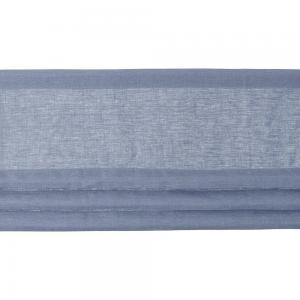 """Gardinkappa """"fuskhisskappa"""" på metervara i 100% lin med tre lagda veck, ljusblå"""