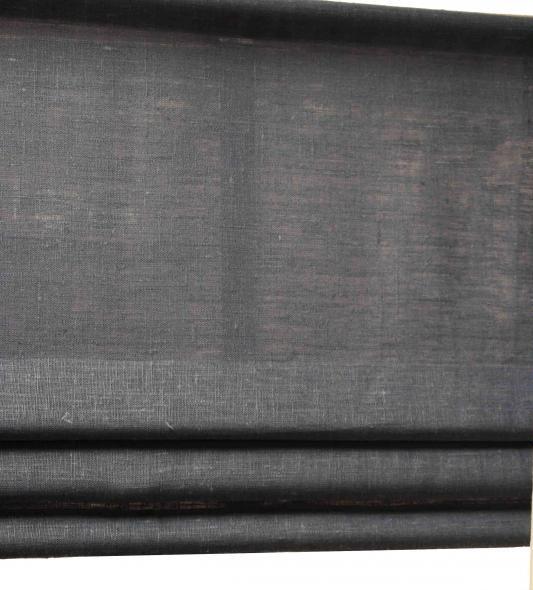 """Gardinkappa """"fuskhisskappa"""" på metervara i 100% lin med tre lagda veck"""