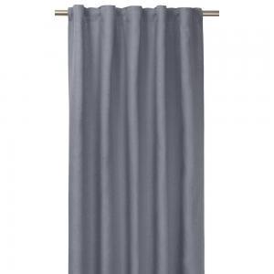 Gardinlängd TUVA, 1-pack, tvättat lin, ljusblå