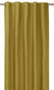 Gardinlängd TUVA, 1-pack, tvättat lin, gul