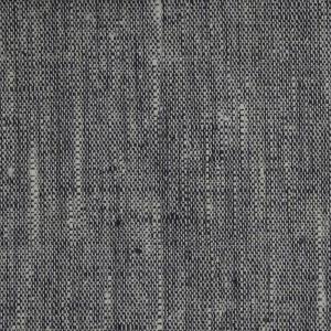 Hissgardin på metervara i tvättat lin, grå/svart melerad