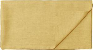 Duk TUVA, tvättat lin, gul