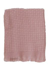 Pläd HILMA, enfärgad, rosa