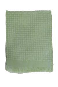 Pläd HILMA, enfärgad, grön