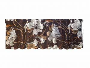 Gardinkappa LILLY, blommig, brun