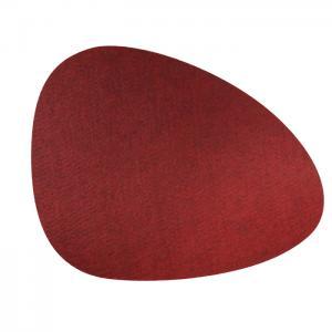 Bordstablett KELLY 4-pack, filt, vinröd
