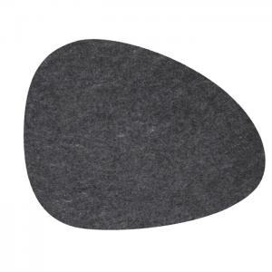 Bordstablett KELLY 4-pack, filt, mörkgrå
